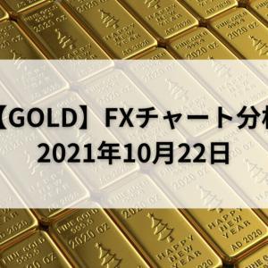 【GOLD】FXチャート分析【2021年10月22日】