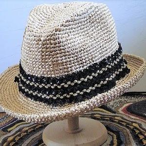 【初心者】必ず編み上がる 『中折れ帽』 ★ ニットパターン式 (編み方を記述してみました) エコアンダリヤ