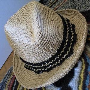 【完成編】定番糸のエコアンダリヤで人気の『中折れ帽』を編んだよ!編み図・5号かぎ針・細編み・アイロン仕上げまで。