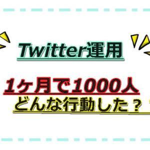Twitter1ヵ月でフォロワー1000人超!継続して増やす為に何をした?