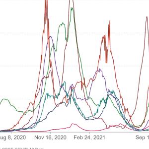 新型コロナウイルスの世界の状況 2021/9/13段階公表データより