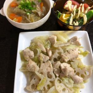 昨日の晩ご飯は鶏むね肉と野菜のオリーブ炒め。追加の買い物発生
