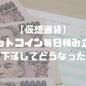 【仮想通貨】ビットコイン毎日積み立て→下落でどうなった?