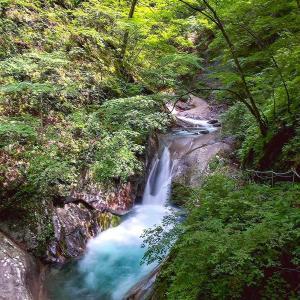 西沢渓谷のだめゾーン行けるとこまで行ってみる(貞泉の滝)