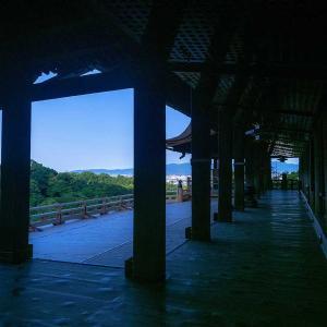 京都急ぎ旅・・青い静寂の清水寺