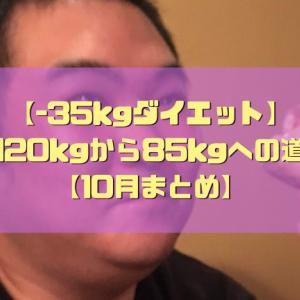 【-35kgダイエット】120kgから85kgへの道【10月まとめ】