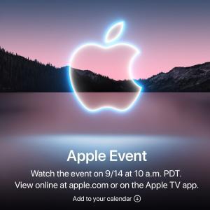 Appleがイベントを、9月14日(火)(日本時間9月15日)に開催