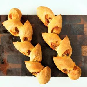 こねないパンでベーコンエピ オーバーナイトで長時間熟成