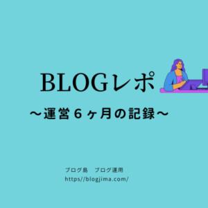 【ブログ運営6ヶ月間の報告】PV数や収益を振り返る副業ブログ!ブログ島