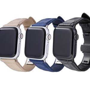 【新商品】GRAMASから色付けやコーティングにこだわった オリジナル クロコ型押しレザー使用 Apple Watch Bandが発売