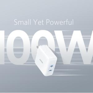 【新商品】1台でノートPCとタブレット端末を同時に急速充電できる「Anker PowerPort lll 2-Port 100W」が発売