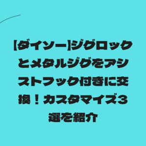 【ダイソー】ジグロックとメタルジグをアシストフック付きに交換!カスタマイズ3選を紹介