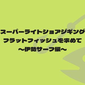 【スーパーライトショアジギング】フラットフィッシュを求めて〜伊勢サーフ編〜