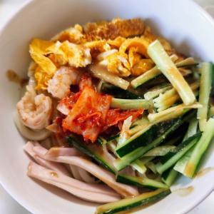 秋のはじまり…休日のお料理のレシピ…サラダうどん