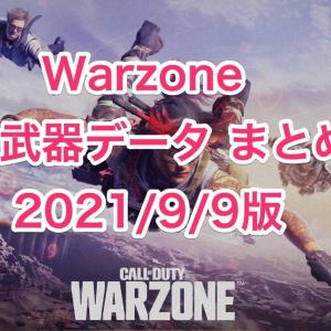【 CoD:Warzone】強武器データまとめ 2021.9.9版