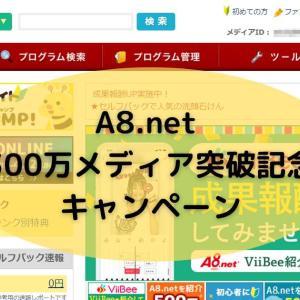 A8.net 300万メディア突破記念キャンペーン 開催中 11/30まで