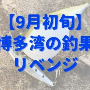 【博多湾】9月初旬、前回のリベンジなるか?サゴシ狙いの結果は?