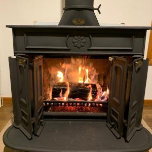 暖炉の準備