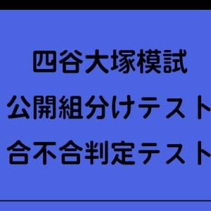 【合不合判定テスト(四谷大塚)】2021年スケジュール
