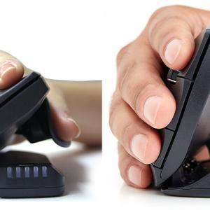 マウス操作時の手首や腕の負担(マウス腱鞘炎)を解消。角度や大きさを調整できる縦型マウス「ユニマウス」。テレワーク作業にオススメ。