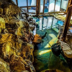 霧島温泉『旅の湯』の露天風呂でまったり【鹿児島県霧島市】