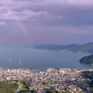 瀬戸内海にかかる虹に願い事を込めて【広島県呉市】