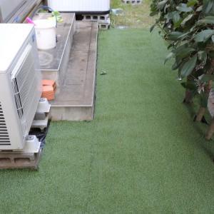 人工芝でお庭のぬかるみ対策【DIY・カスタマイズ】