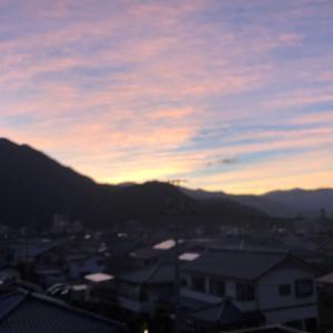ブログ開始初日の夕焼け