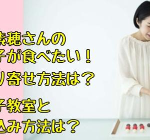坂本紫穂(しほ)の和菓子が食べたいがお取り寄せは?和菓子教室と申し込み方法も気になる【情熱大陸】
