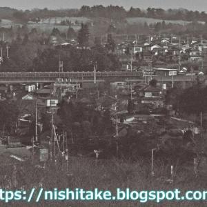 狭山湖堤防から見た701系 1982.1.15