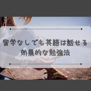 留学経験無しでも英語は話せるようになる!やるべきことはたった3つ