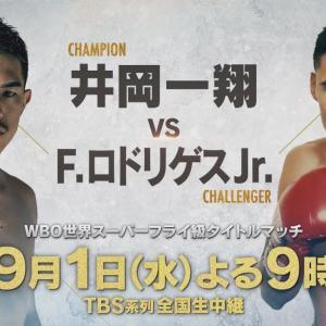 WBO世界スーパーフライ級タイトルマッチ 井岡一翔×ロドリゲス