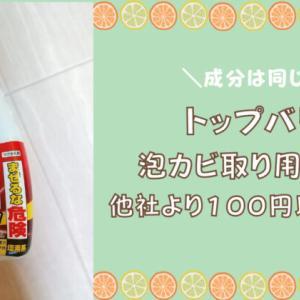 トップバリュカビ取り用洗剤は他社製品より100円以上安くておすすめ!