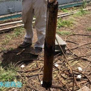 水中ポンプ故障 新しい深井戸水中ポンプと交換!【大分県由布市の事例】