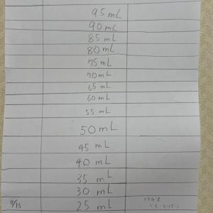 牛乳100ml (大きな目標)