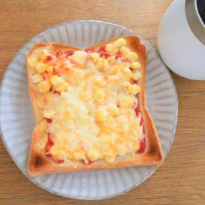 冷凍ピザトースト。