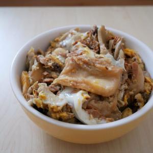 〈お麩がメイン!ツナ卵とじ丼〉のレシピ【+滋賀の丁字麩は超おいしいです!という話】