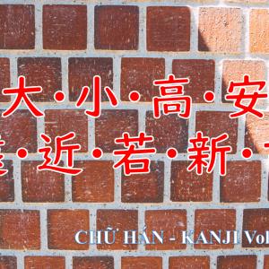 CHỮ HÁN – KANJI Vol. .4 (大・小・高・安・遠・近・若・新・古)