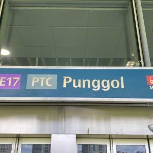 Punggol でエビ釣り