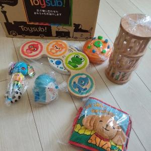 トイサブ3回目届きました☆7ヶ月8ヶ月のおもちゃ