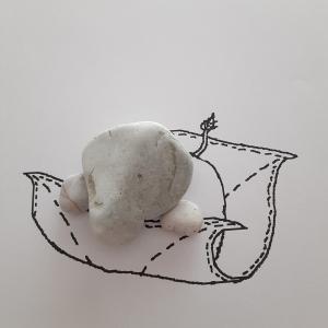 「ゾウの ぞうきんがけ」糸魚川ピクチャーストーン(紋様石)vol.71