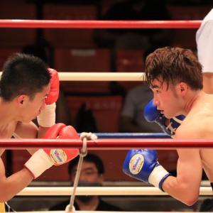 大保龍斗(横浜さくら) vs 中嶋憂輝(角海老宝石) グレイテストボクシング フライ級8回戦(2021/08/04)