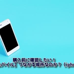 購入前に確認したい!【楽天モバイル】つながる場所なのか?(iphone編)