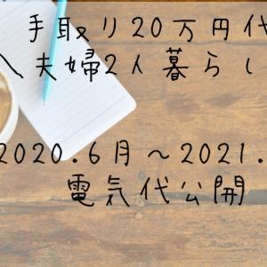 【手取り20万円台夫婦】1年間の電気代いくら?