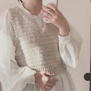 ✐☡ 編み物日記 〜秋冬用ベスト〜