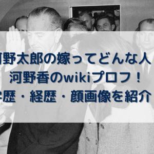 河野香のwikiプロフ!年齢や経歴を顔画像付きで紹介!