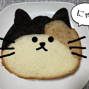 可愛すぎる「ねこねこ食パン」♪プレーン&三毛猫食べてみました