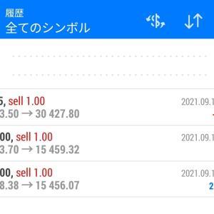 (第9回)2021.9.16 デイトレ日記+2,587円 NAS100、JP225