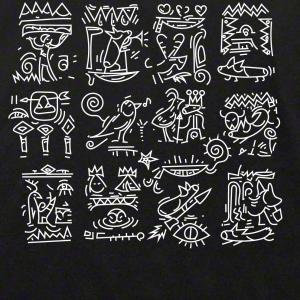 コーギーの象形文字Tシャツ 古代のコーギーは?