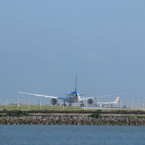 那覇空港を望む(126)。